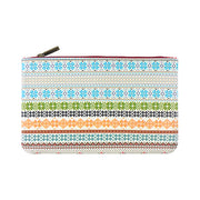 Shop Mlavi Studio's whimsical vegan flat medium makeup pouch with stylish Nordic/Scandinavian print. A great gift for family & friends. Wholesale available at www.mlavi.com gift shops, fashion accessories & clothing boutiques in Canada, USA & worldwide.