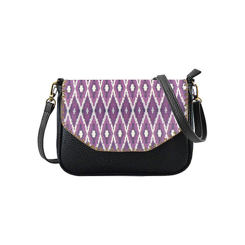 Defi Ikat print faux leather cross body seattle bag