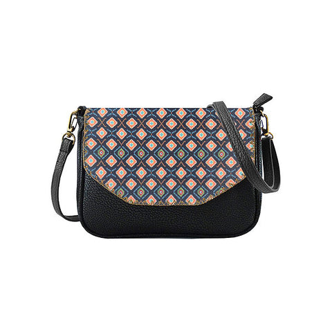 Dewi Ikat print faux leather cross body seattle bag
