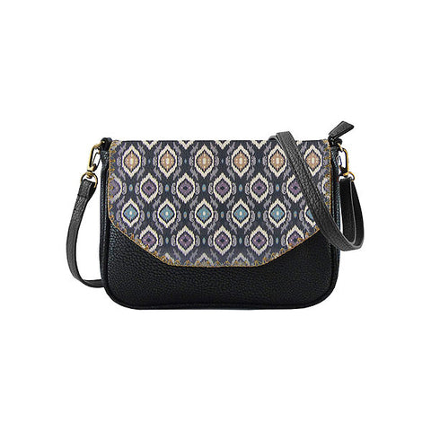 Fitri Ikat print faux leather cross body seattle bag