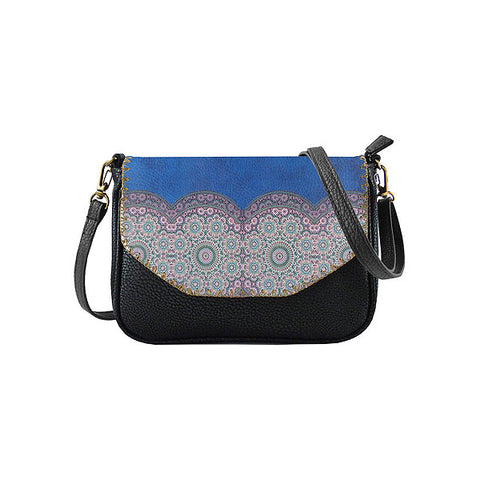Kenza Moroccan print faux leather cross body seattle bag