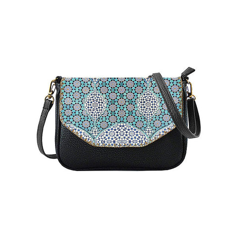 latifa Moroccan print faux leather cross body seattle bag