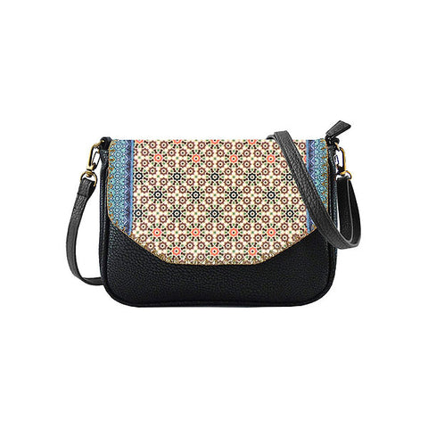 Asmaa Moroccan print faux leather cross body seattle bag