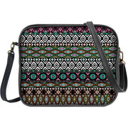 Shop Mlavi's whimsical vegan cross body bag/toiletry bag with Bohemian style Aztec print. It's cute yet It is roomy enough to hold wallet, smart phone and small personal items like key and lip balm. Wholesale available at www.mlavi.com gift shops, fashion accessories & clothing boutiques in Canada, USA & worldwide.