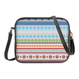 Nordic Scandinavian pattern print faux/vegan leather crossbody bag