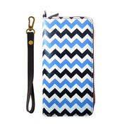 Shop Mlavi Chevron printed vegan wristlet large wallet for women made with Eco-friendly & cruelty free vegan materials. Gift shop & boutique buyer can order wholesale at www.mlavi.com for ethically made & unique fashion accessories including bags, wallets, purses, coin purses, travel accessories & gifts.