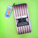 Shop Mlavi studio's cool retro typewriter print vegan large wallet made with SGS tested toxic-free Eco-friendly cruelty free vegan materials. Wholesale available at www.mlavi.com for gift shop, fashion accessories & clothing boutique in Canada, USA & worldwide.