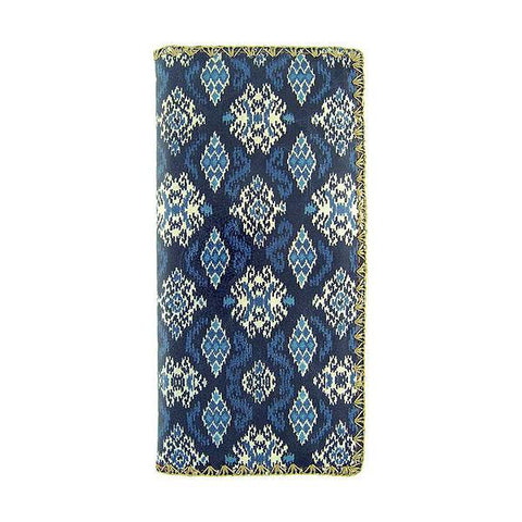 Aisyah ikat print faux leather wallet