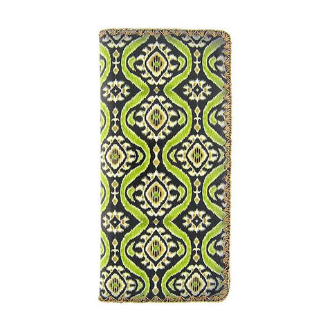 Diah ikat print faux leather wallet