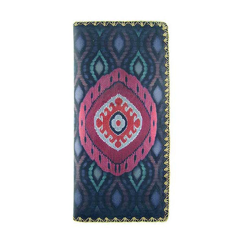 Diandra ikat print faux leather wallet