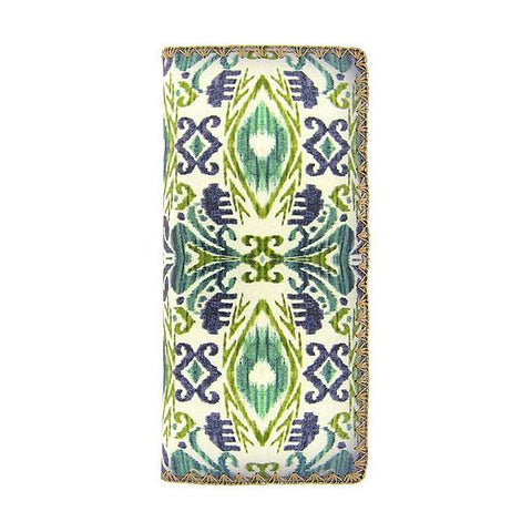 Dina ikat print faux leather wallet