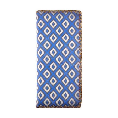 Ikat print faux leather large flat wallet - Mlavi  - 1