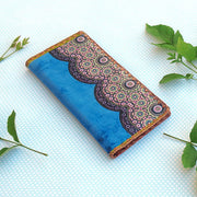 Online shopping for Mlavi Studio's whimsical Bohemian style Moroccan pattern print vegan large flat wallet. Made with toxic-free vegan materials, It's great for everyday use or a gift for your family & friends. Wholesale at www.mlavi.com for gift shops, fashion accessories & clothing boutiques, museum stores worldwide.