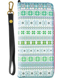 Nordic Scandinavian pattern print wrislet large zipper wallet