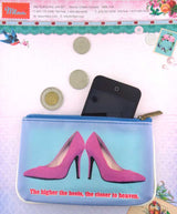 Shoe lovers' fun vegan leather pouch-heaven