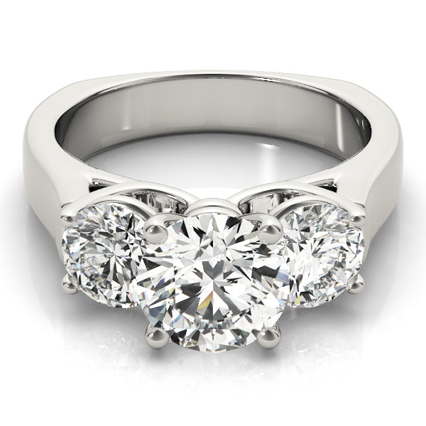 ENGAGEMENT RINGS 3 STONE ROUND