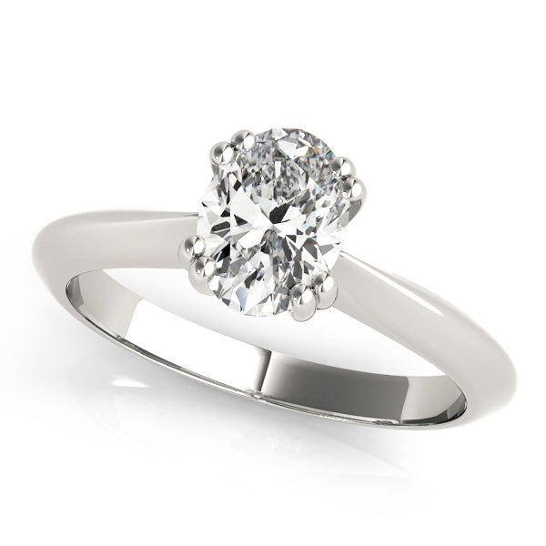 DOUBLE PRONG OV ENGAGEMENT RING