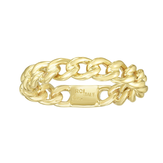 14K Gold Curb Ring