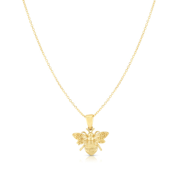 14K Gold Bumblebee Necklace