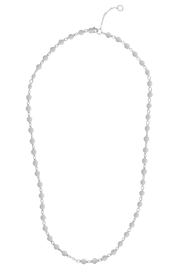 14K Gold Round Mirror Chain