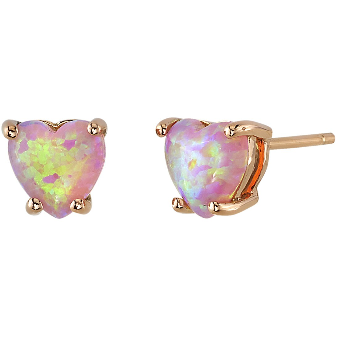Details about  /Pink Opal Rose Color Anniversary Jewelry 925 Sterling Silver Earrings