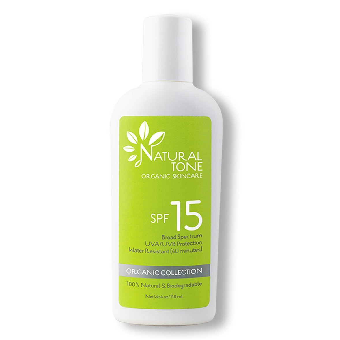SPF 15 Natural Sunscreen - Natural Tone Organic Skincare