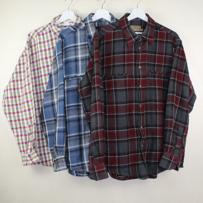 MAN VINTAGE SET OF 3 FLANNEL SHIRTS