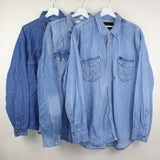 MAN VINTAGE SET OF 3 DENIM SHIRTS