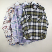 MAN VINTAGE SET OF 3 FLANNEL SHIRT