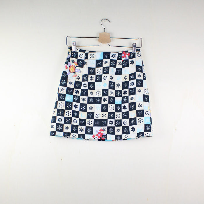 WOMAN VINTAGE VERSACE JEANS SKIRT LOVE