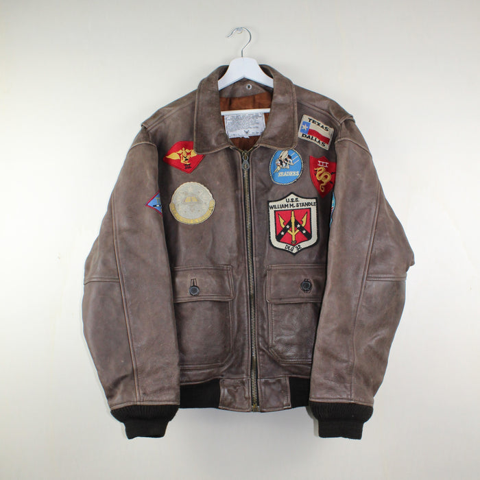 MAN VINTAGE AVIREX AVIATOR LEATHER JACKET LOVE