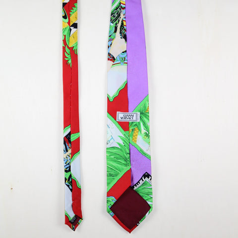 MAN VINTAGE GIANNI VERSACE SILK TIE LOVE