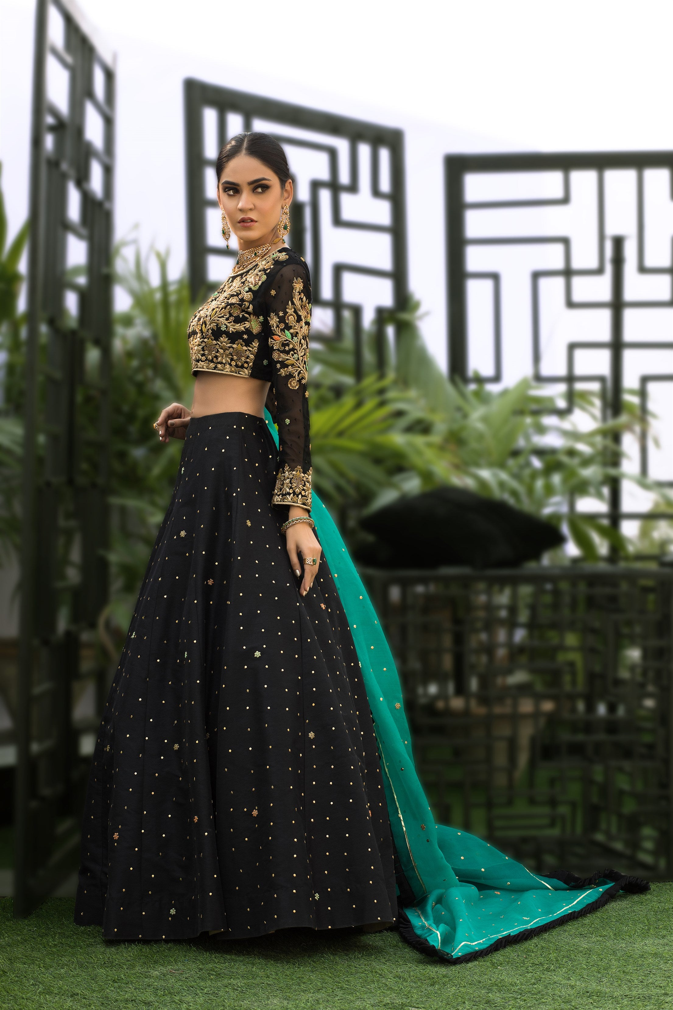 buy Black Lenga Choli