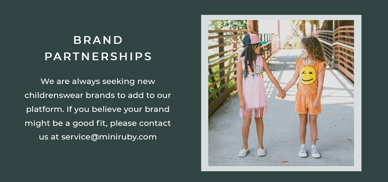 Mini Ruby Contemporary Childrenswear Brand Partnerships and Incubator Program
