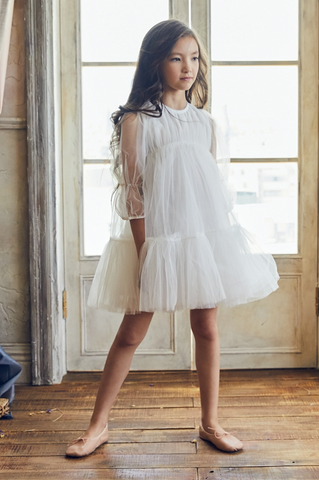 Nellystella Alice Girls Dress White