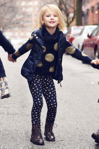 Imoga Navy Dot Legging at Mini Ruby