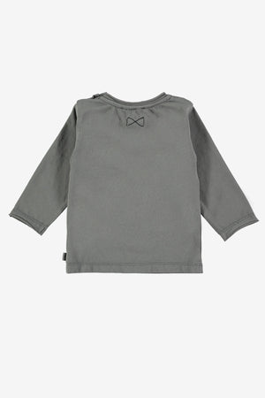 Mini Sibling Baby Top - Charcoal