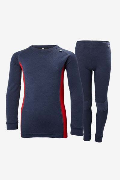 Helly Hansen Jr Lifa Merino Baselayer Set - Evening Blue