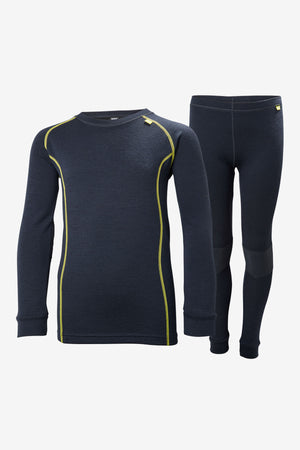 Helly Hansen Jr Lifa Merino Baselayer Set - Navy