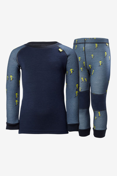 Helly Hansen Lifa Merino Boys Baselayer Set - Vintage Indigo