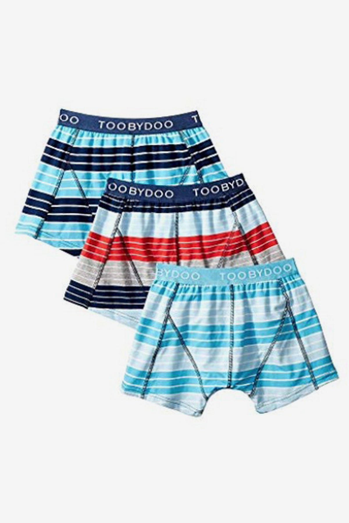 Toobydoo Boys Underwear 3-Pack - Red/Blue