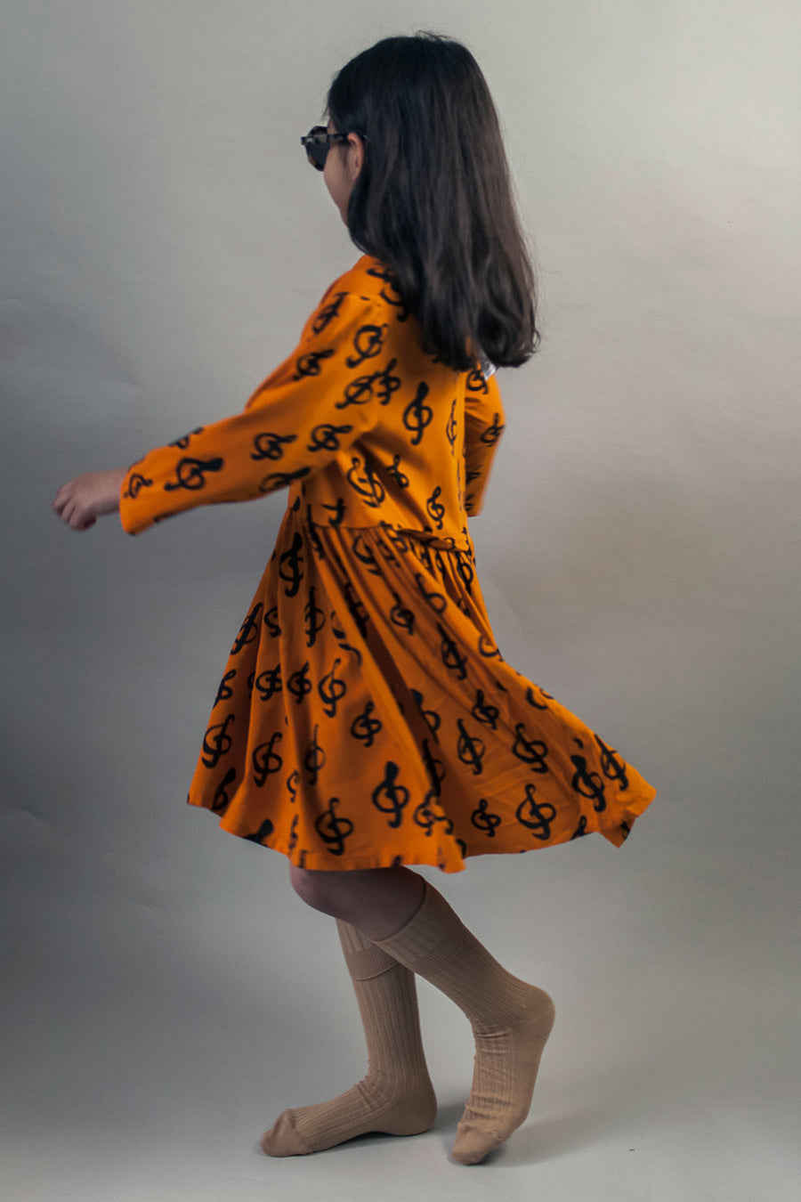 Beau Loves Collar Dress - Orange