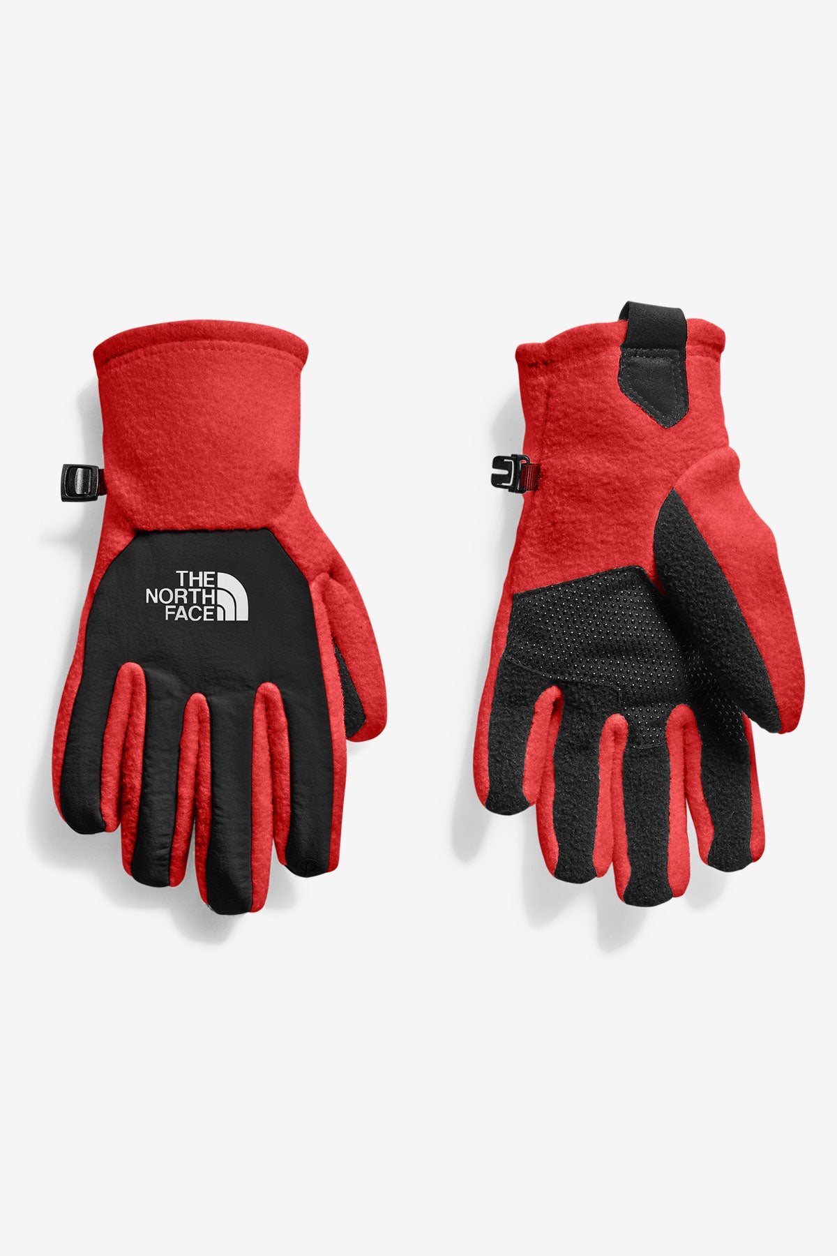 343544156 The North Face Youth Denali Etip Glove - Red