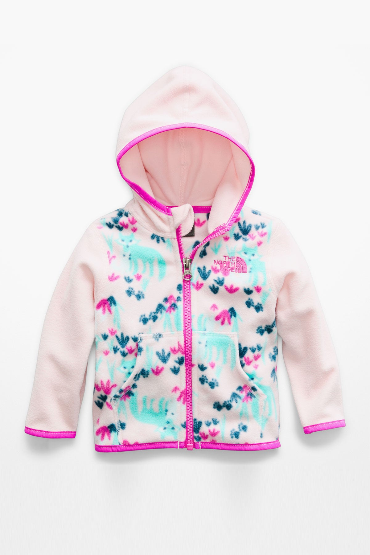 8663f0d2d The North Face Infant Glacier Full Zip Hoodie - Purdy Pink Fox ...