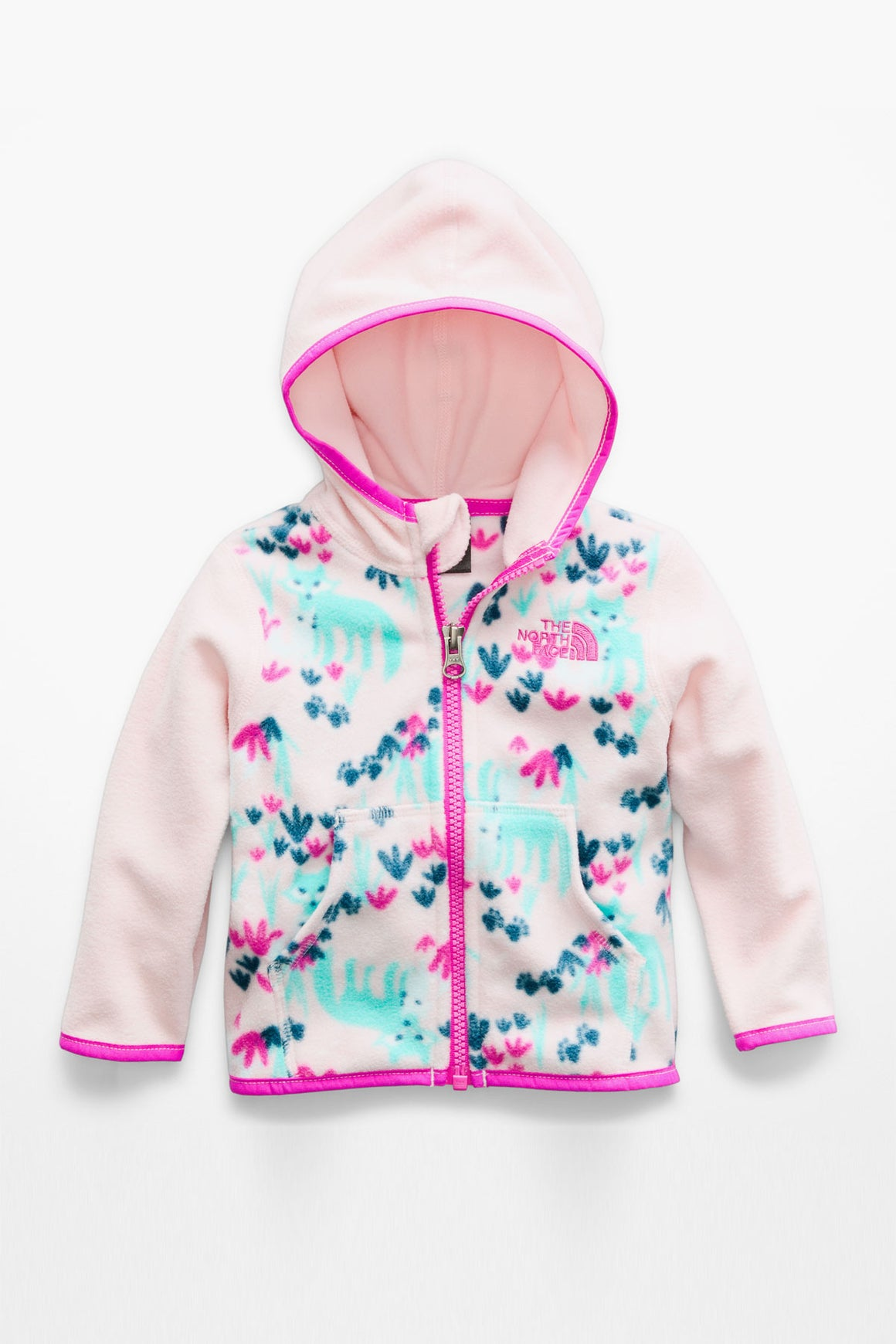 The North Face Infant Glacier Full Zip Hoodie - Purdy Pink Fox