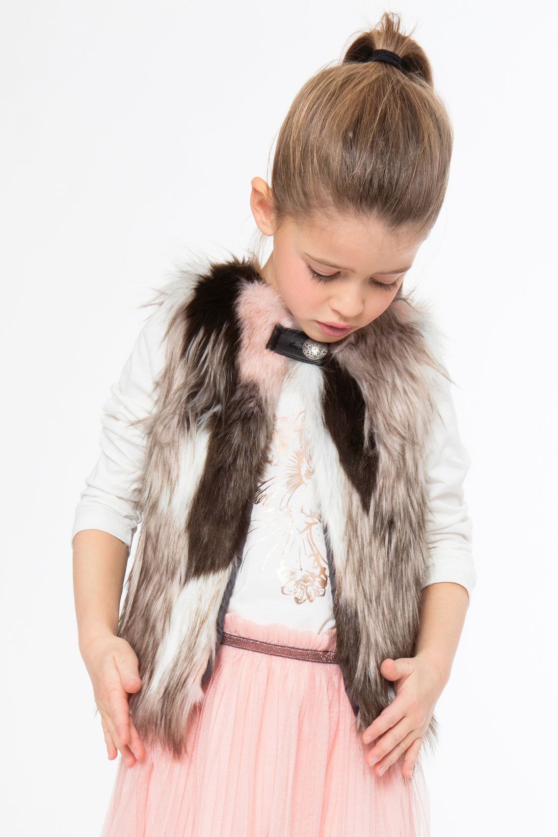 c9a04c13e1846 3pommes Girls Faux Fur Vest