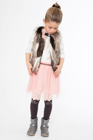 3pommes Girls Faux Fur Vest