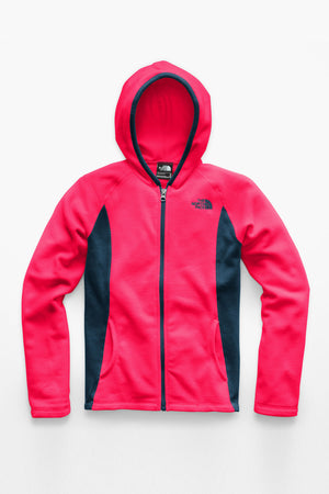The North Face Girls Glacier Full Zip Hoodie - Atomic Pink