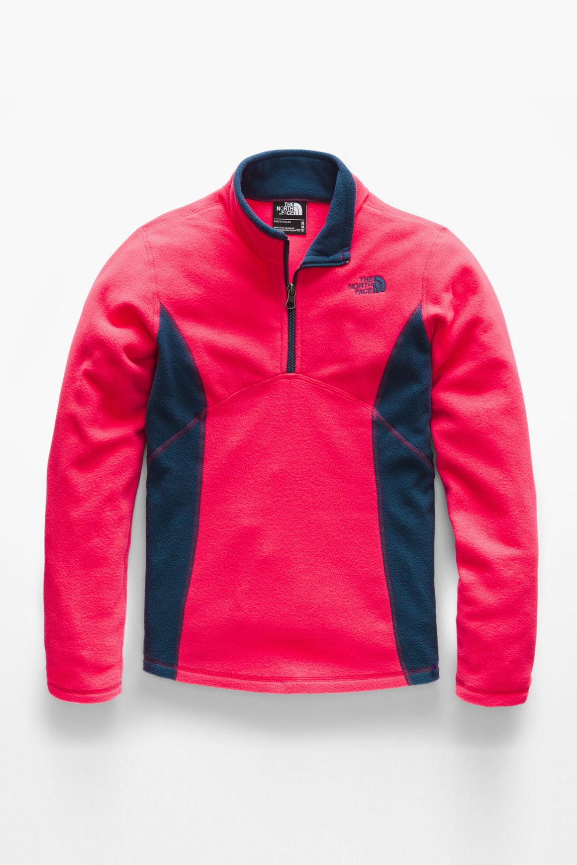 The North Face Girls Glacier 1/4 Zip - Atomic Pink