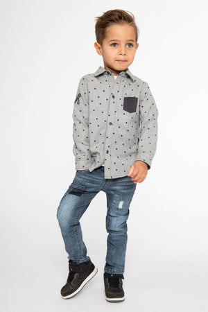 3pommes Grey Star Shirt